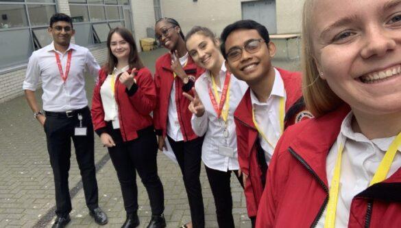 Group of volunteer mentors smiling