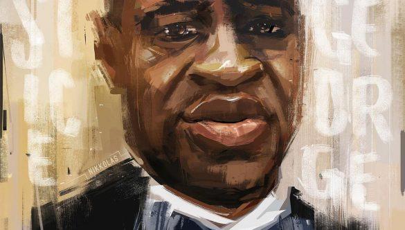 painting of George Floyd by artist Nikkolas Smith