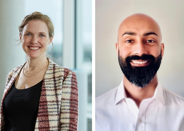 headshots of new trustees Kasey Hooper and Sachin Jogia